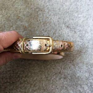 Jcrew Gold Snakeskin Belt